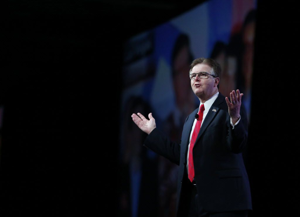 Lt. Gov. Dan Patrick said he was thrilled at the prospect of fewer federal regulations from a Trump presidential administration. (Vernon Bryant/Staff Photographer)