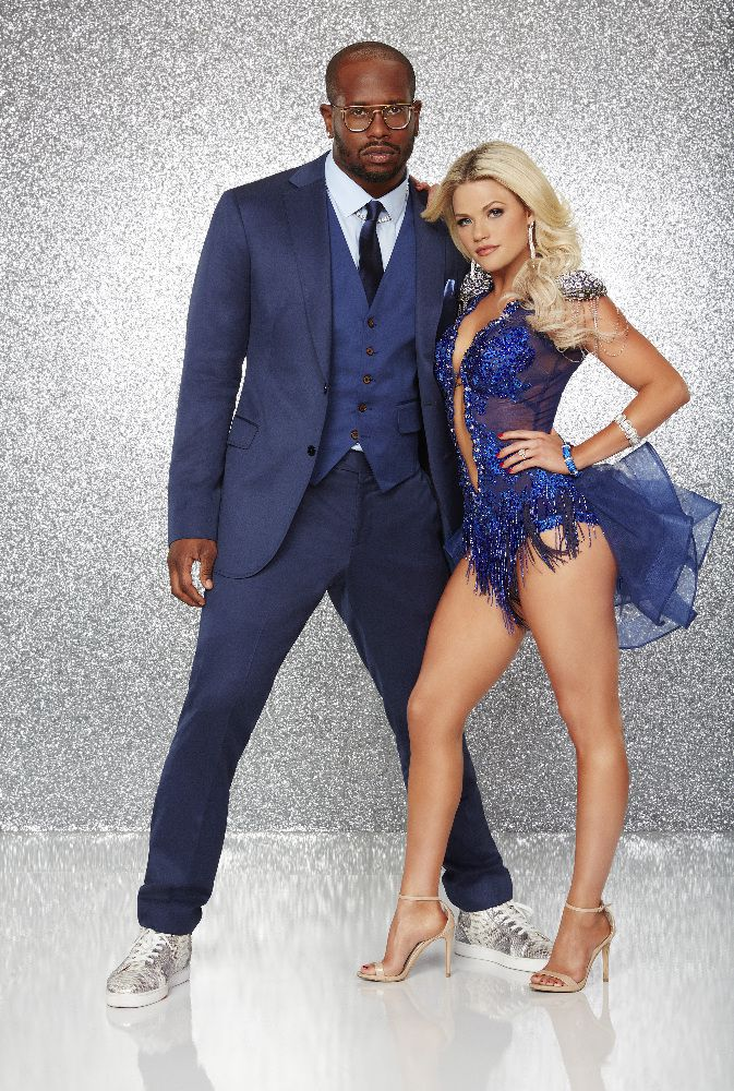 NFL player Von Miller is paired with Witney Carson.