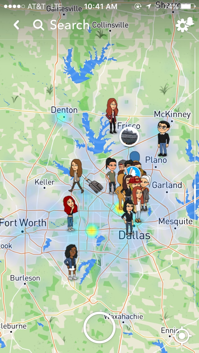 If your friend Gwen said she's at home in Arlington and doesn't feel like doing anything, you could check Snap Map. Maybe that's Gwen shopping in Frisco.