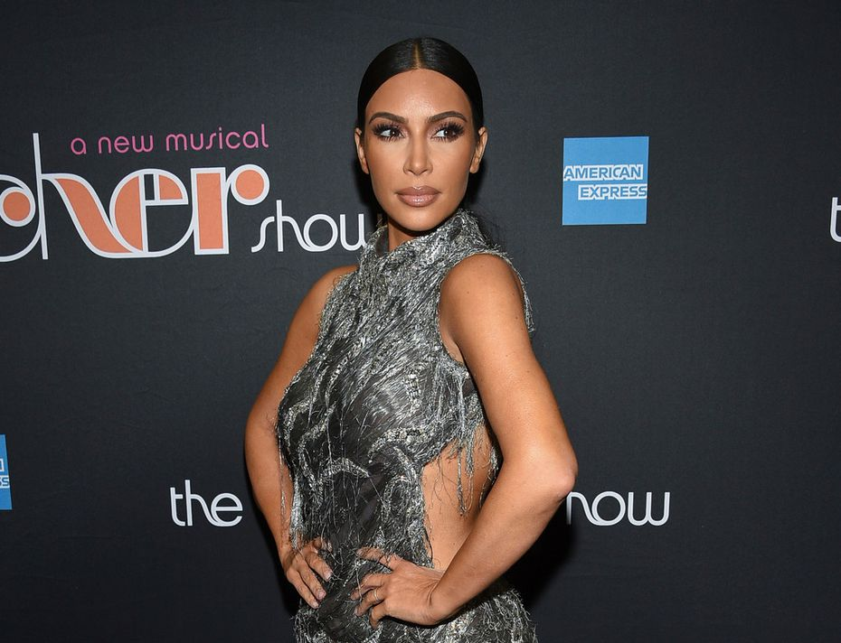 """This file photo shows Kim Kardashian West at """"The Cher Show"""" Broadway musical opening night in New York."""