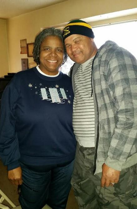 Wilson with her husband, Joshua Gardener, who she met on a Jamaican vacation, in a photo taken earlier this year.