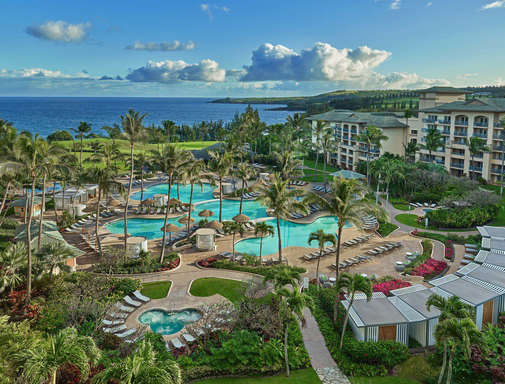 The Ritz-Carlton, Kapalua stretches across the Maui coast and offers guests a sparkling poolside escape.