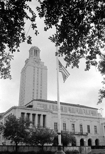 On Aug. 1, 1966, after killing relatives, Charles Whitman took the tower at the University of Texas and used it as a sniping position. He killed 16 people and wounded dozens more.