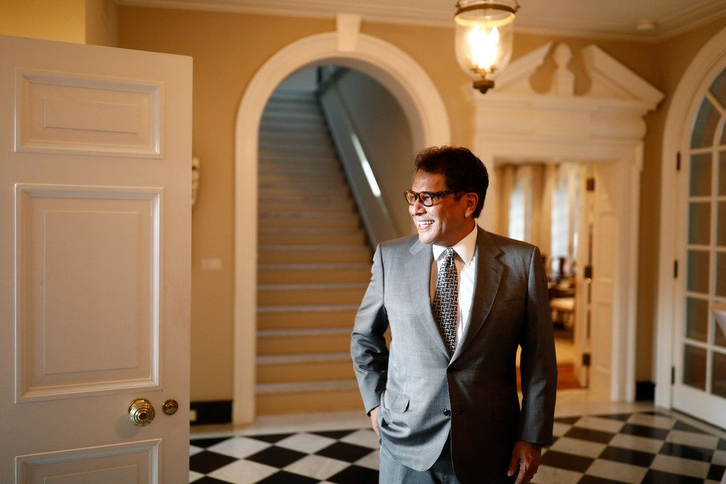Mario Castillo, a D.C. lobbyist and native of San Angelo, Texas, lives next door the E.U. ambassador's residence.. A self-described West Texas-meets-Washington version of the Beverly Hillbillies, he played a key role in bringing about the art exhibit.