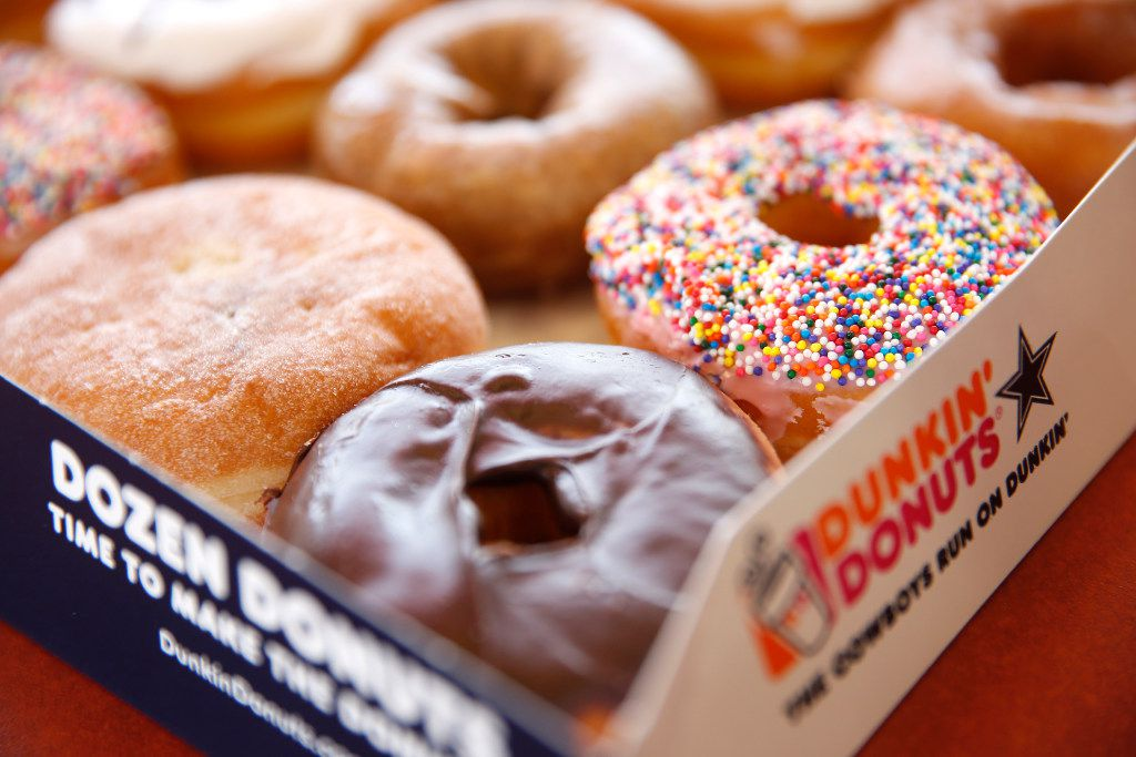 Doughnuts are pictured at the Dunkin' Donuts store in Plano.