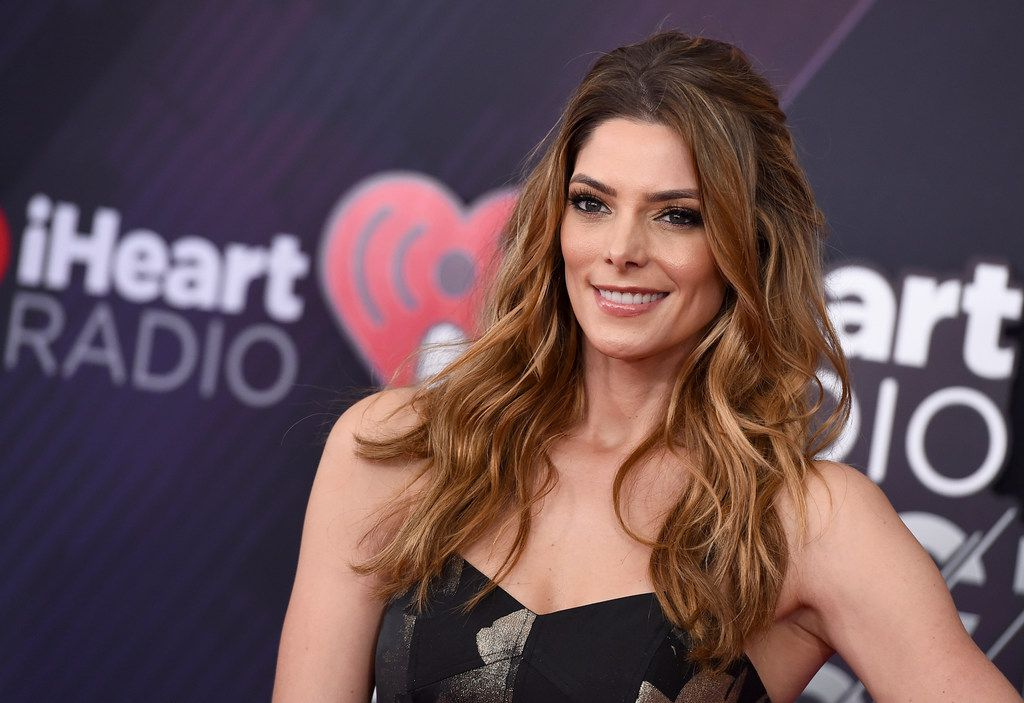 Ashley Greene arrives at the iHeartRadio Music Awards at The Forum in Inglewood, Calif.