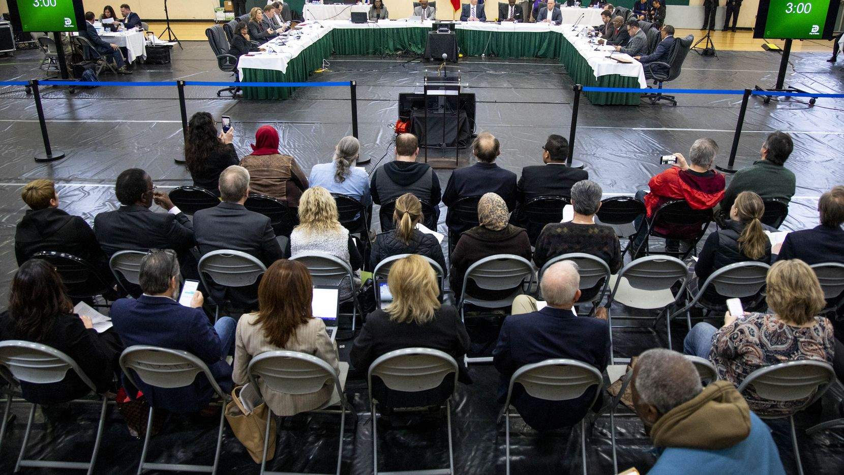The Dallas City Council held its regular agenda meeting Wednesday at the Park In the Woods Recreation Center in far southwest Dallas.