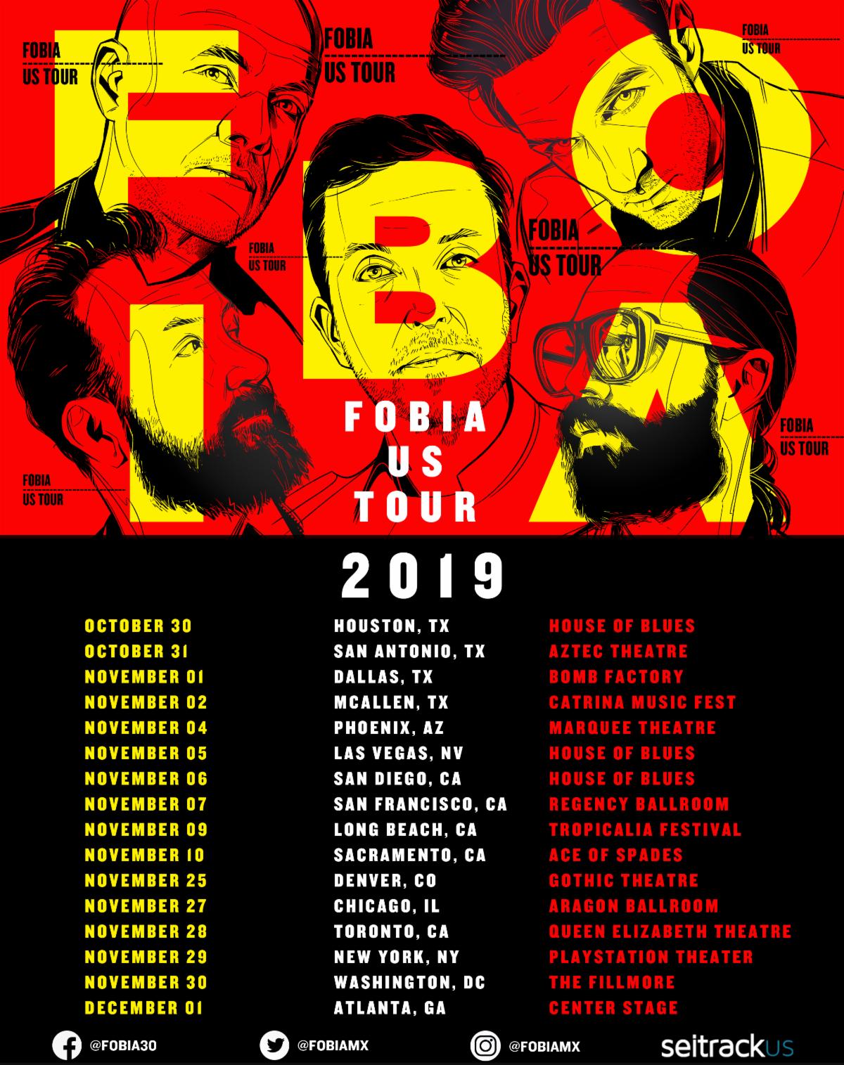 Gira de Fobia 2019