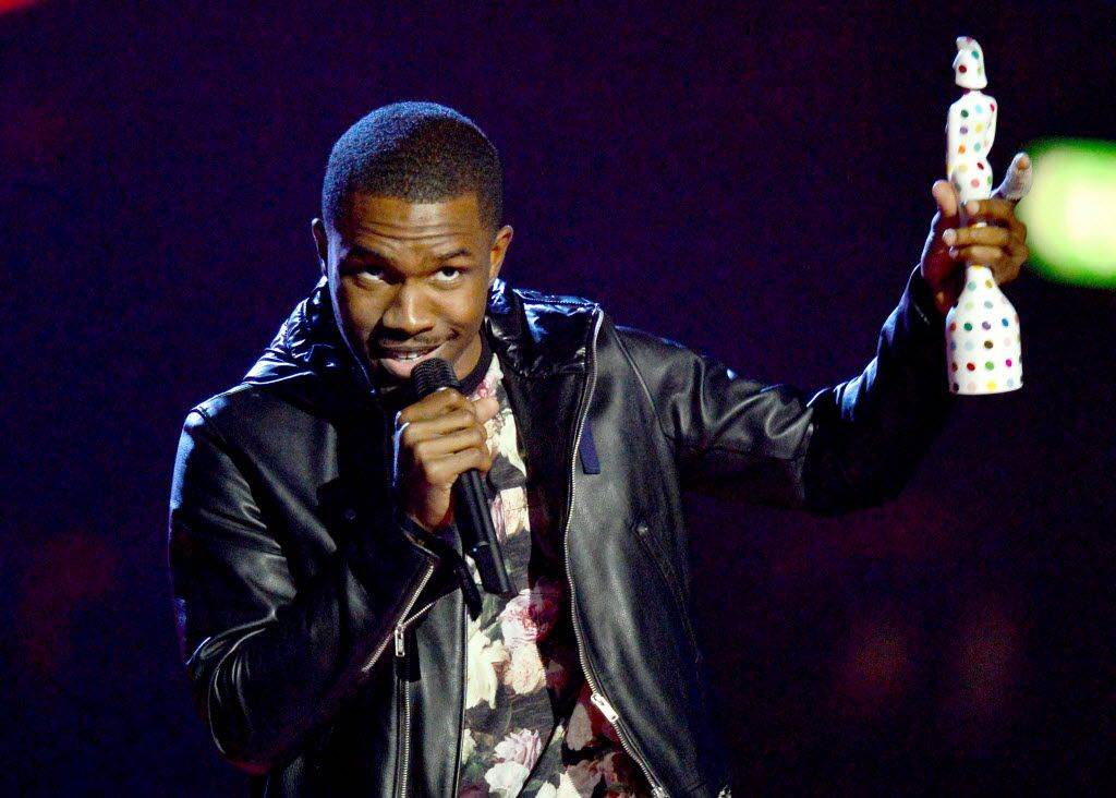 Singer-songwriter Frank Ocean accepted the International Male Solo Artist award during the BRIT Awards 2013 ceremony in London.