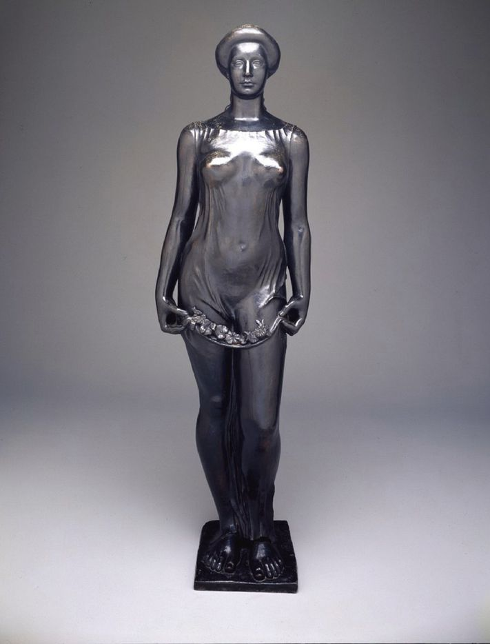 Aristide Maillol, French, 1861 to 1944, Flora, 1911. This was the first gift given by Margaret and Eugene McDermott to the Dallas Museum of Art.