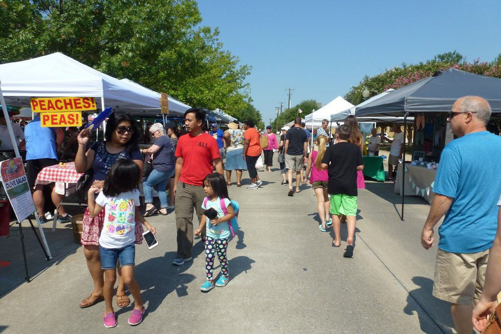 The temporary location of the Historic McKinney Farmers Market just north of the downtown McKinney square offers easier access.