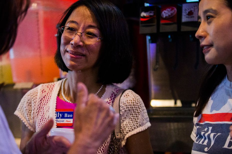 Lily Bao at an event in 2017, when she was running for mayor. Bao won the Place 7 seat on the Plano City Council Saturday night. (Ashley Landis/The Dallas Morning News)