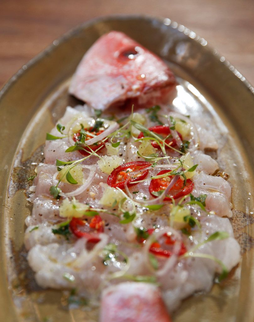 Water Grill makes a whole fish ceviche-style.