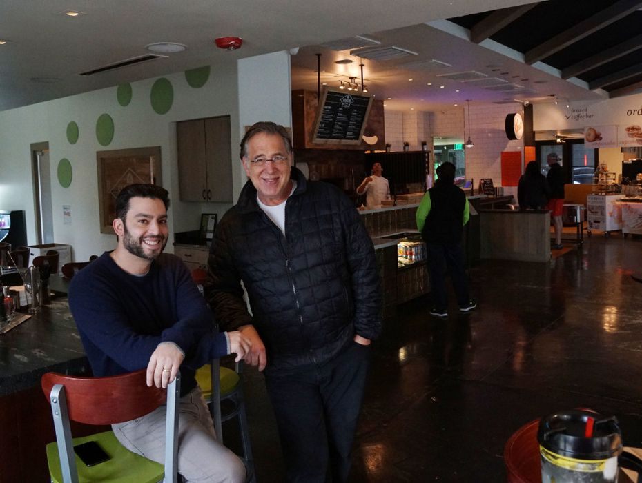 Developers Jonathan Tobolowsky and Mark Brezinski pose at Uptown Urban Market in Dallas, Texas on Friday, December 10, 2016. Urban Market is the latest food hall to pop up in North Texas.  (Lawrence Jenkins/Special Contributor)