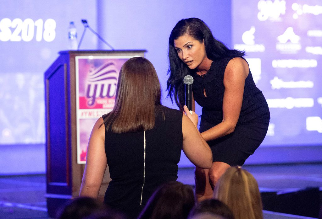 Dana Loesch signed a book for an attendee at the Turning Point USA Young Women's Leadership Summit, a conference for young conservative women, last year at the Hyatt Regency Hotel at DFW International Airport.