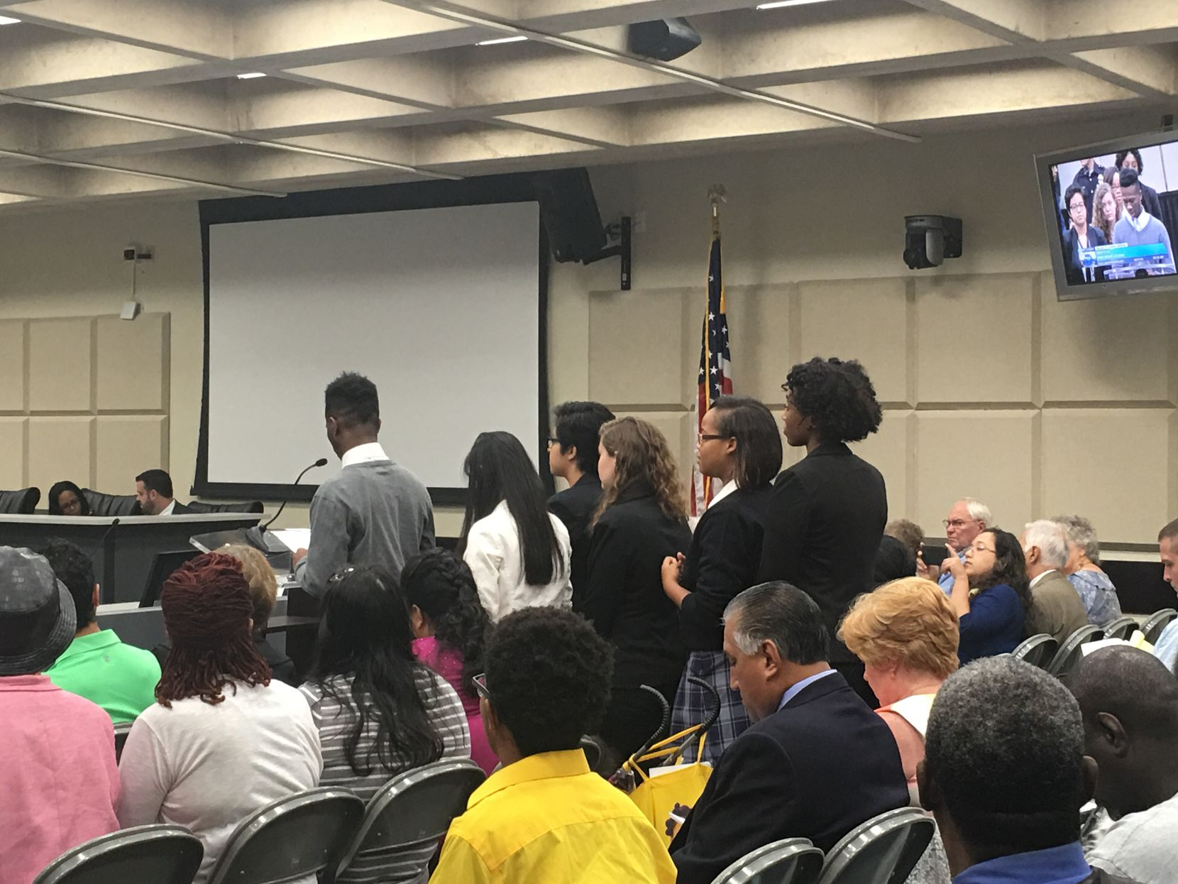Dallas Youth Commission chair Nathaniel Barrett, 16, presented the commission's position paper on Fair Park to the City Council on Aug. 17.