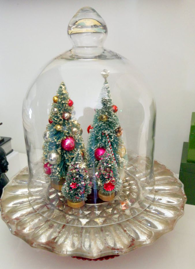 Vintage Christmas decorations collected by Jason McDaniel are displayed at his home.