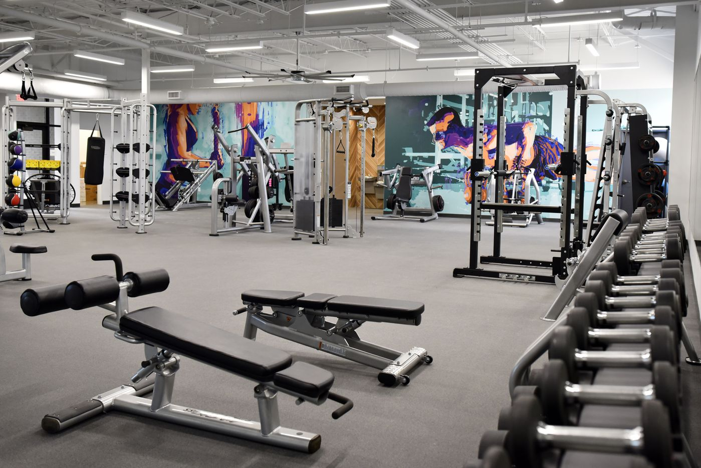 One of the two gyms located on the campus of Legacy Central.