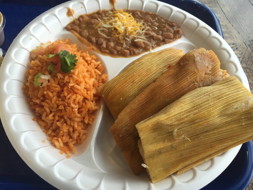 Tamales (pork, spicy pork and chicken) from El Mero Mero Tamalero