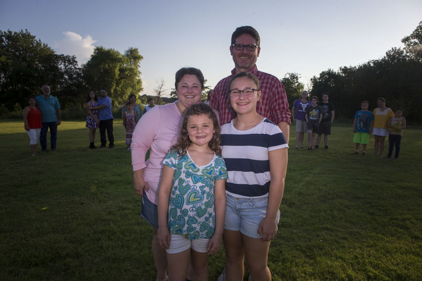 "Louise, Rose, Alexis and Karl McBurnett on July 7, 2017, in Little Elm. ""Starting to go to the group thing, it was life-altering,"" Louise McBurnett said. The McBurnetts are part of a group of families with transgender youth."