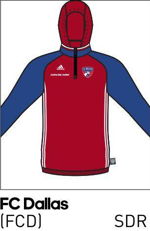 2016 FC Dallas travel hoodie.
