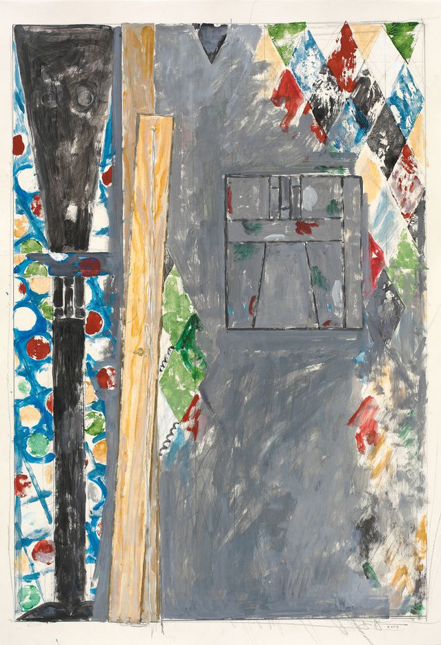 Bushbaby, 2004, by Jasper Johns. Acrylic and graphite pencil on paper mounted on paper. The Menil Collection, Houston; bequest of David Whitney.