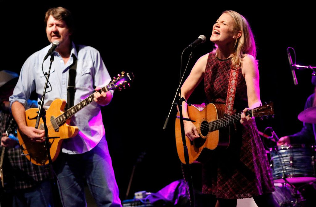 Bruce Robison (left) and his wife Kelly Willis perform their Holiday Shindig, a recurring Christmas concert, at The Kessler Theater in Dallas, Friday, December 14, 2018. (Tom Fox/The Dallas Morning News)
