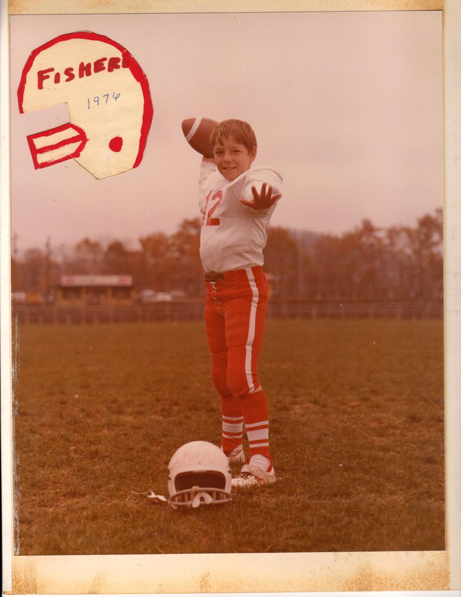 Jimbo Fisher as a pop warner football player in 1976.