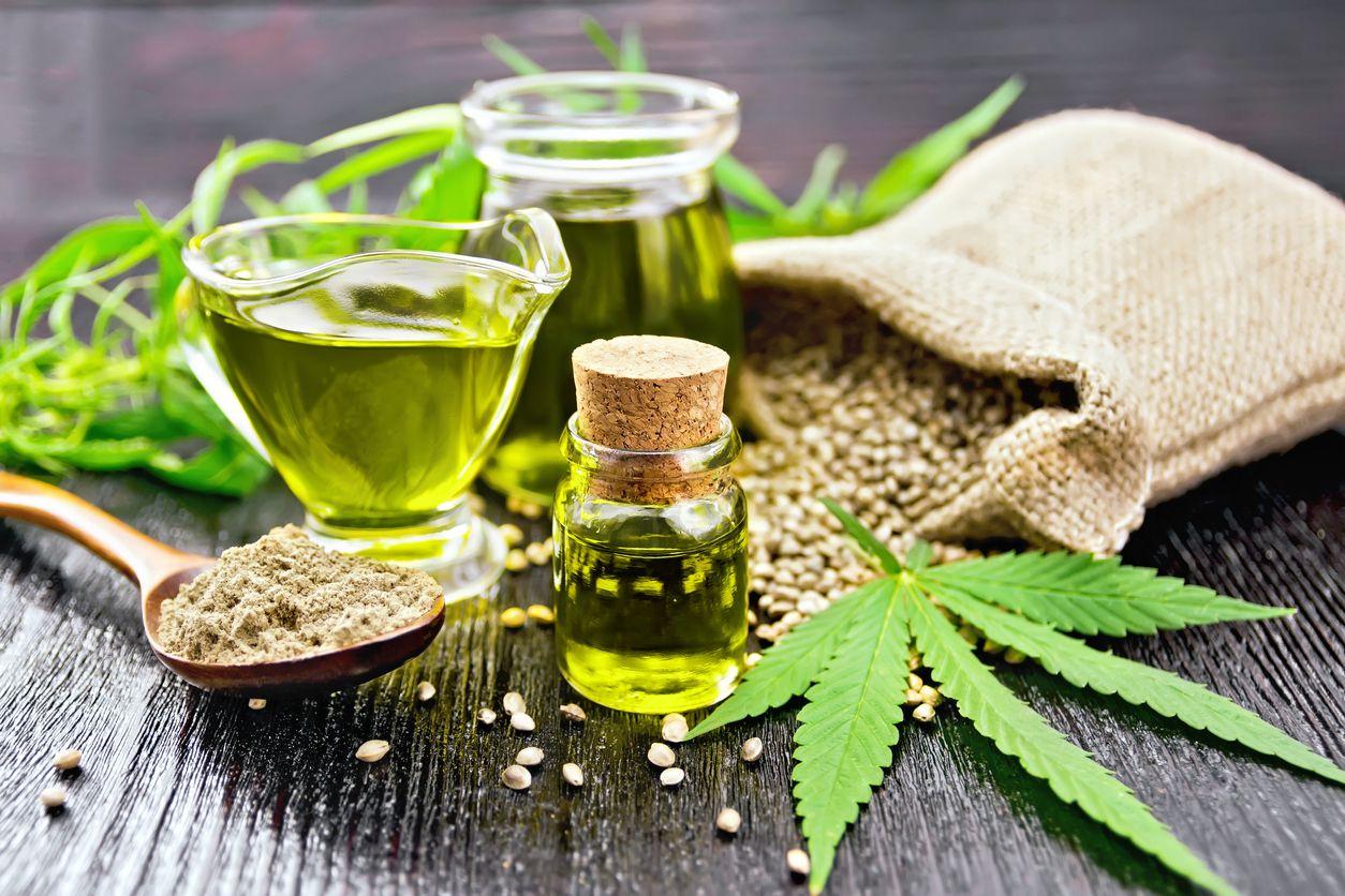Aceite con el compuesto tetrahidrocannabinol (THC), para uso medicinal.