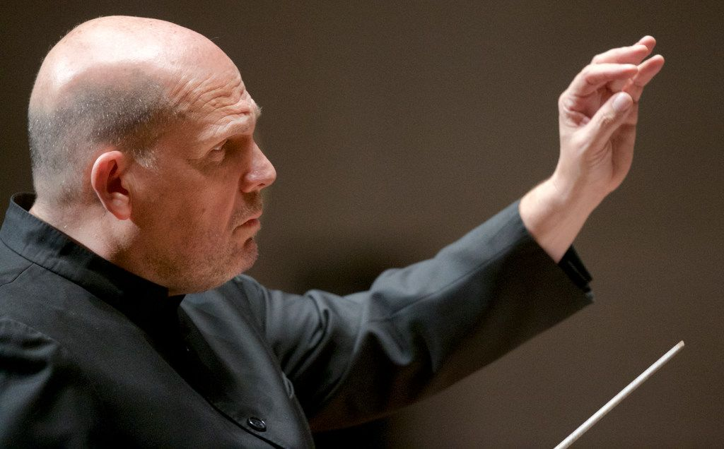 Conductor Jaap Van Zweden leads the Dallas Symphony Orchestra during a performance last November