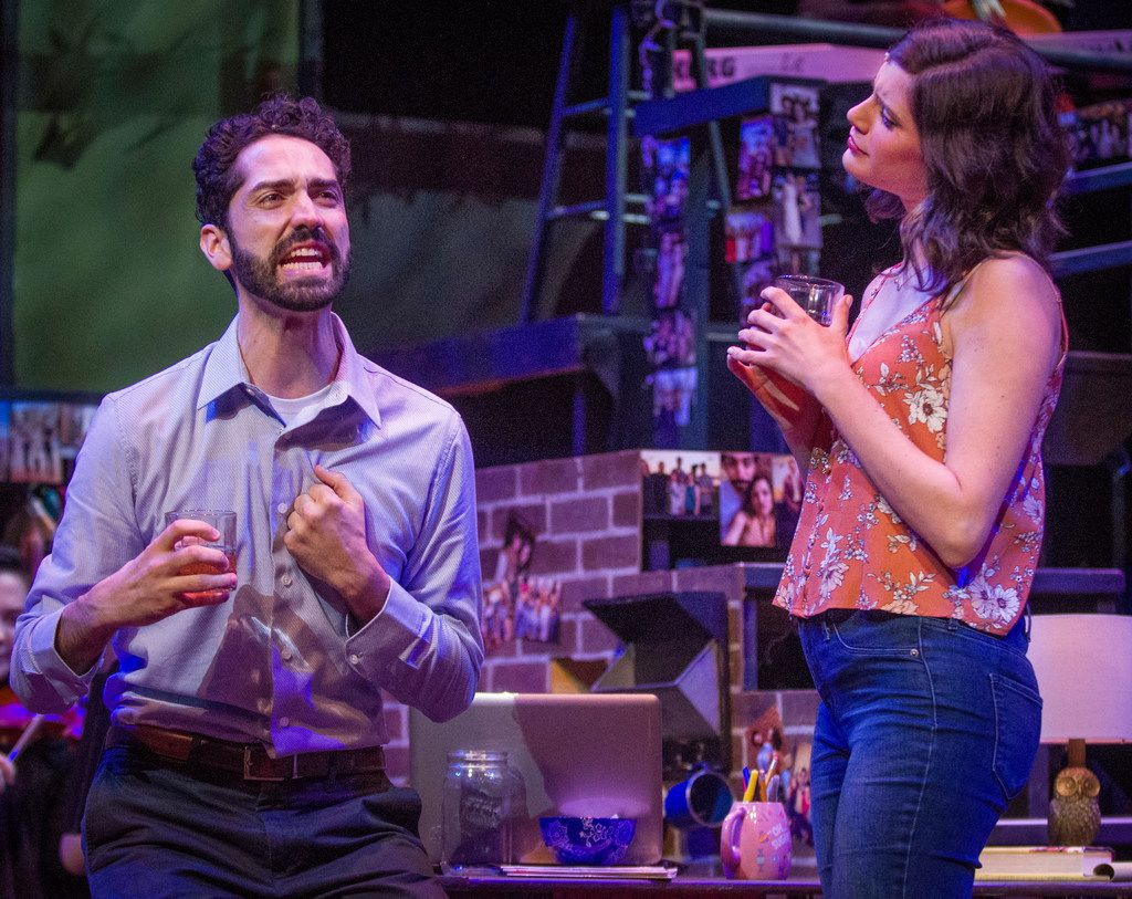 Seth Womack and Monique Abry in The Last Five Years, WaterTower Theatre's production of the popular musical by Tony Award-winner Jason Robert Brown, at Addison Theatre Centre in Addison.