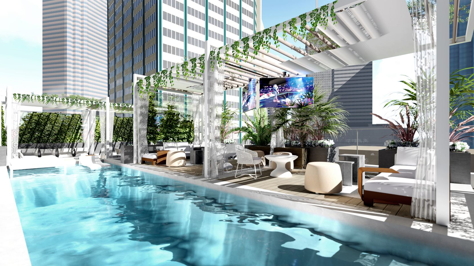 Residents at The Drever building on Elm Street will be able to take a dip in the rooftop pool.