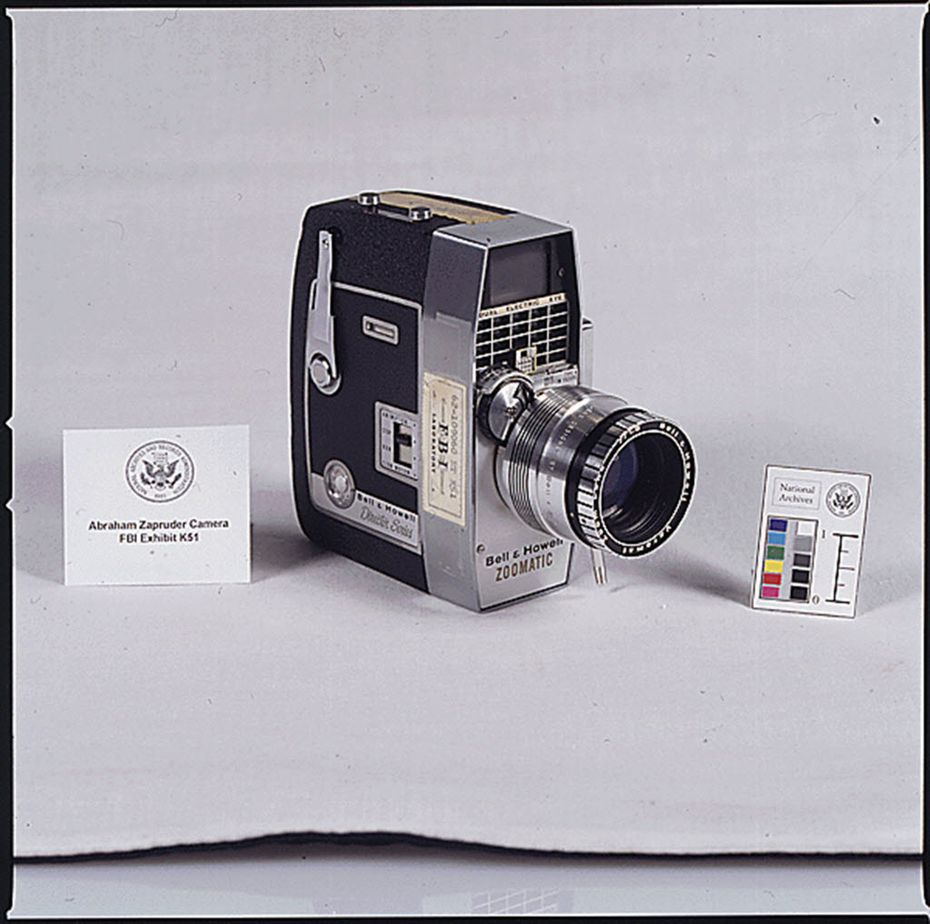 A National Archives photo from the 1960s of the movie camera used by Abraham Zapruder when he filmed the Kennedy assassination.