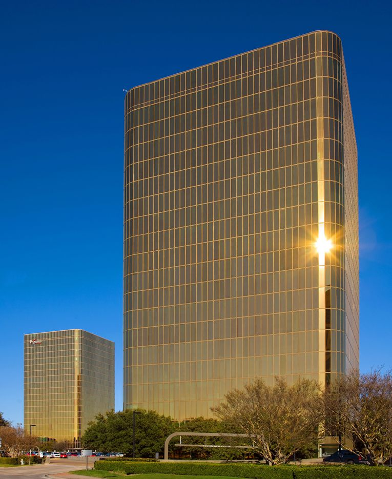 North Dallas' landmark gold Campbell Centre towers sell to