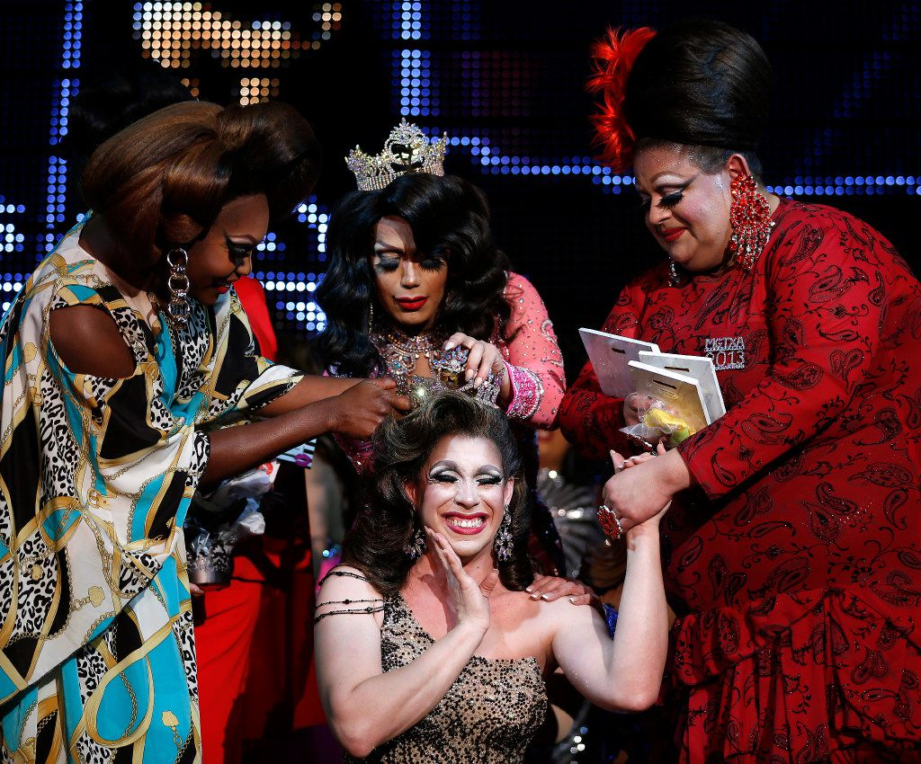Violet S'Arbleu, a fourth-time contestant from Houston, is crowned Miss Gay Texas America 2017 at Oak Lawn's Rose Room Lounge in Dallas, Saturday, July 22, 2017.