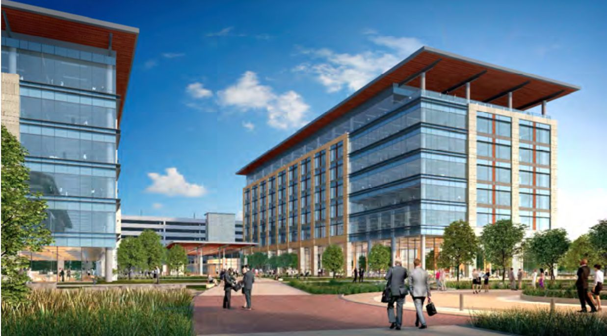 Charles Schwab is working on plans for two new office buildings that would house thousands of workers at its Westlake campus.