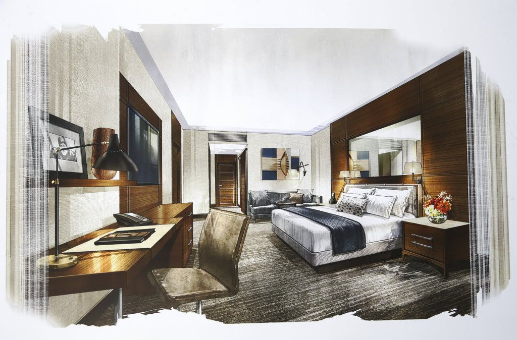 A rendering of a room at the Omni Frisco Hotel at The Star in Frisco on Wednesday, July 27, 2016. (Vernon Bryant/The Dallas Morning News)
