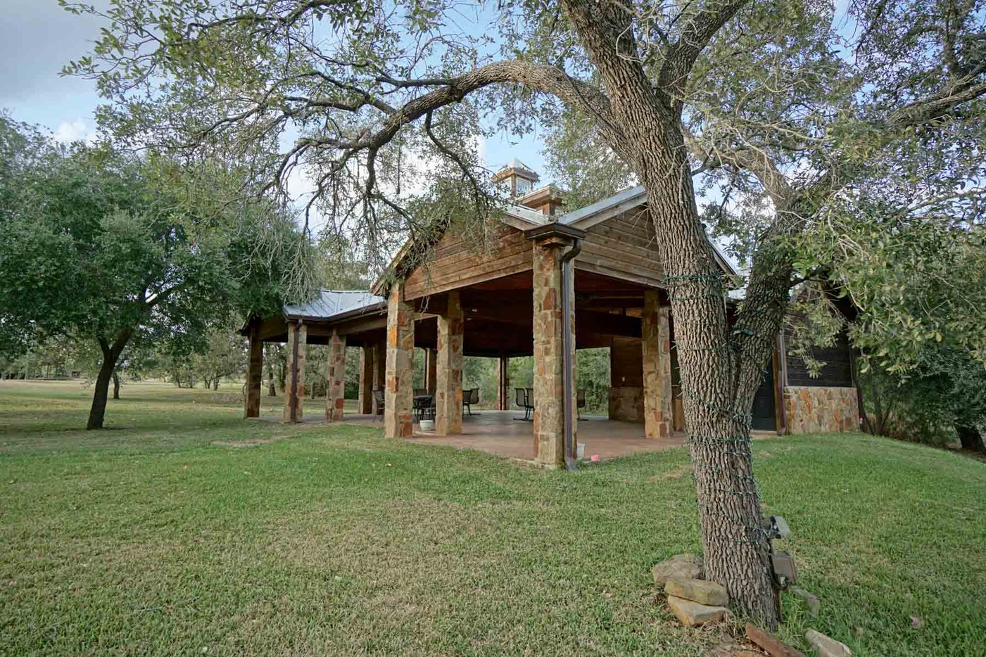 The property has outdoor event spaces.