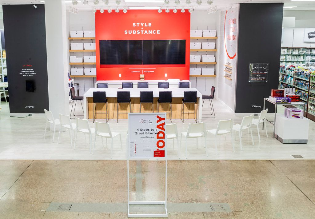 J.C. Penney has a test underway in its Tyler store, where it's holding how-to classes. It has repurposed an area in the home department that already has a television screen.