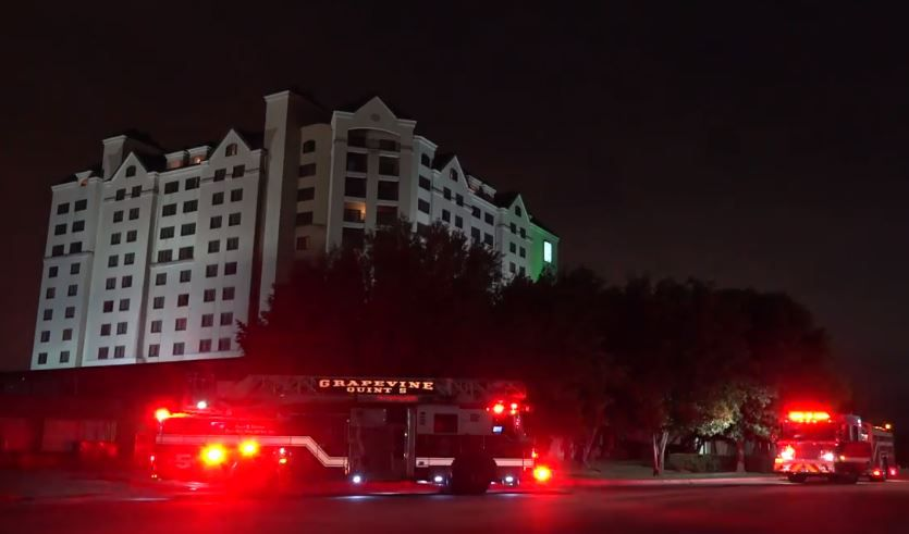 The Grapevine Fire Department responded to a small fire at an Embassy Suites hotel that caused guests to evacuate around 1:30 a.m. Wednesday morning. Guests returned to their rooms about an hour later.