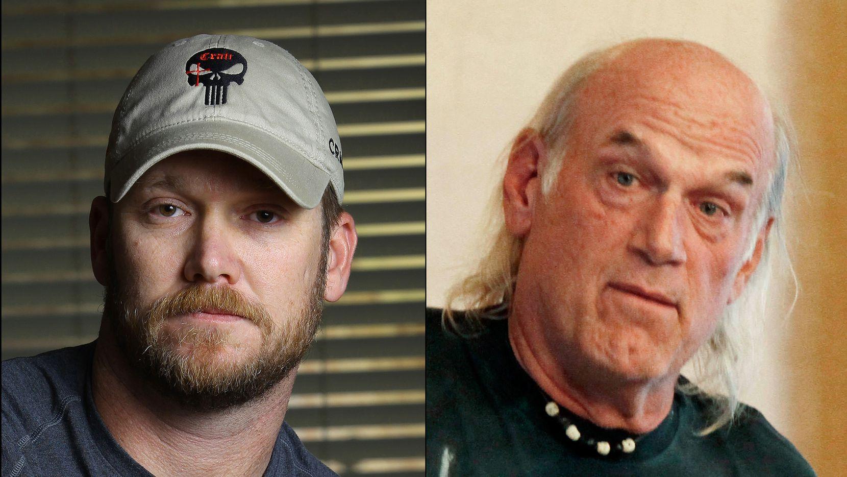 """Former Minnesota Gov. Jesse Ventura (right) alleges he was defamed in Chris Kyle's book """"American Sniper."""""""