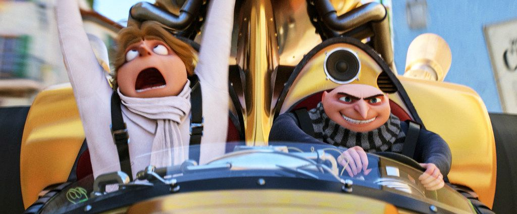 """Gru, right, and his long lost brother Dru, both voiced by Steve Carell are up to some shenanigans in """"Despicable Me 3."""""""