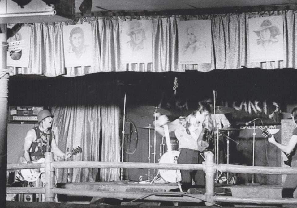 Barry Kooda (left) and the Nervebreakers opening for the Sex Pistols at the Longhorn Ballroom on Jan. 10, 1978.