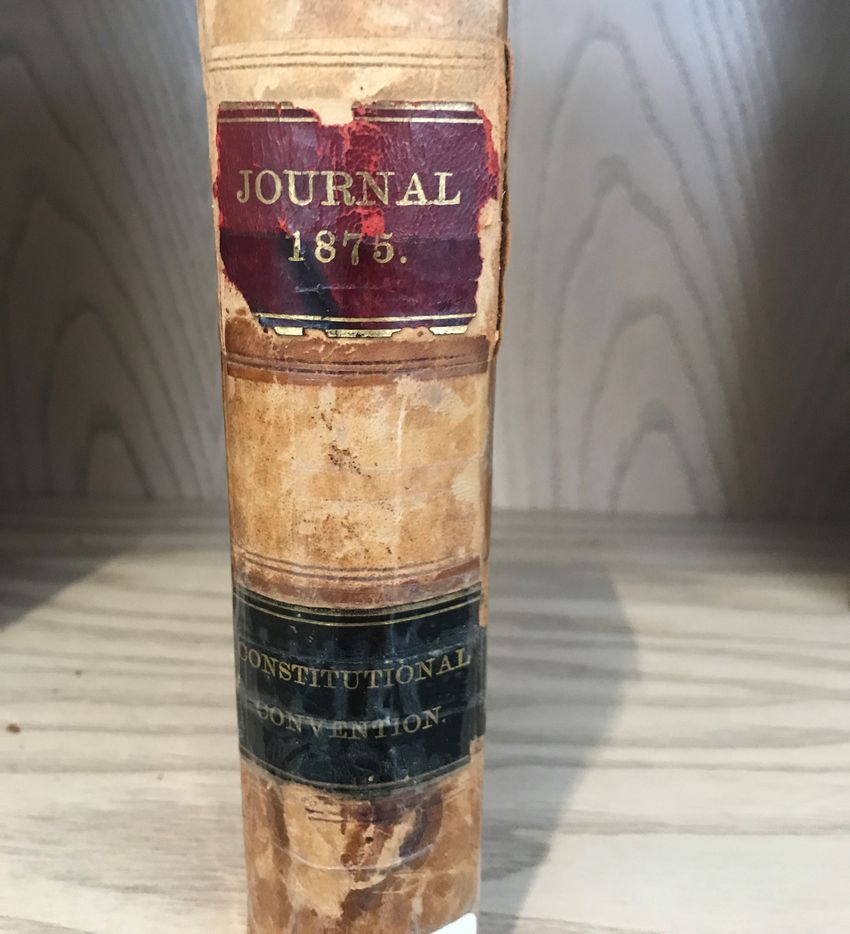 One of the rarest books in the collection is the Journal of the Constitutional Convention of The State of Texas from 1875, a full 10 years before The Dallas Morning News began publication. This volume was printed at the offices of our former sister paper, The Galveston Daily News.