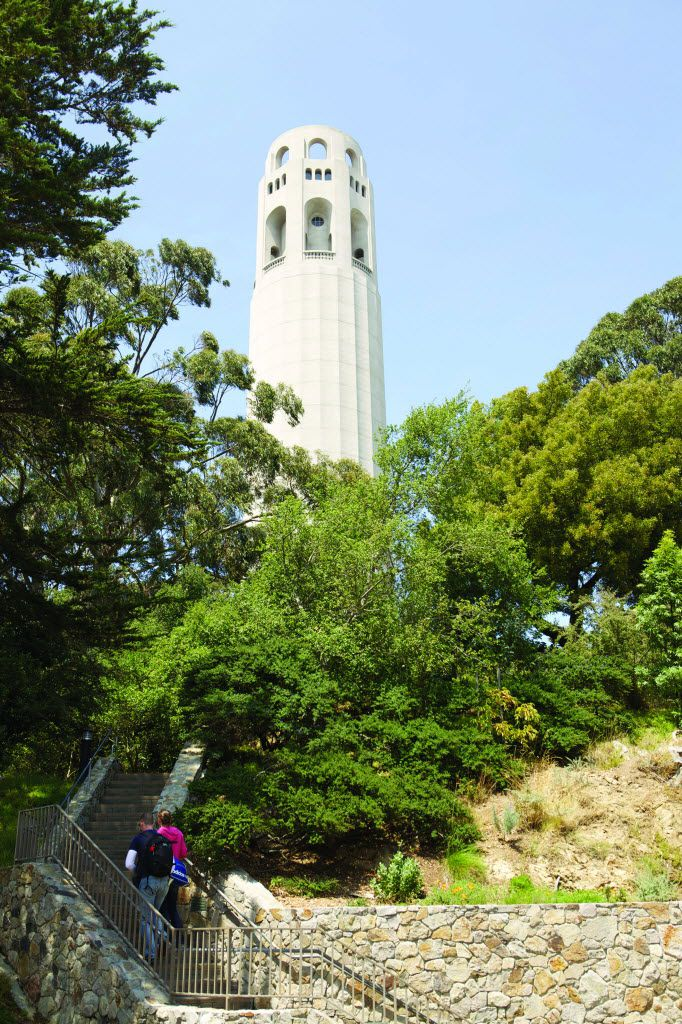 The Filbert Street Stairs wend up a fairyland of fragrant gardens and cute cottages to iconic Coit Tower.