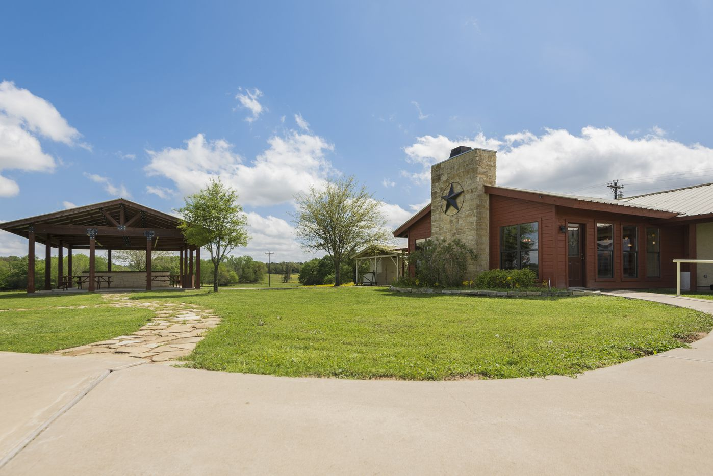 The bunkhouse at the Champion Ranch sleeps 16.