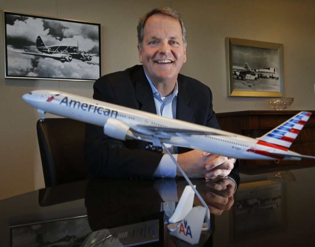 American Airlines chairman and CEO Doug Parker is pictured at his office at American Airlines headquarters in Arlington on Tuesday, November 25, 2014.  (Louis DeLuca/The Dallas Morning News) / mug - mugshot - headshot - portrait / 12072014xNEWS 01042015xBIZ