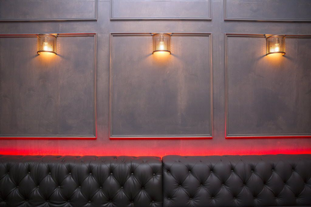 Citizen is filled with wall sconces, and plum seating, shown Thursday, November 12, 2015. (Allison Slomowitz/ Special Contributor)