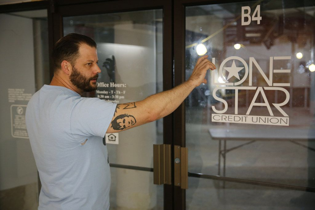 Chef Chad Houser, founder of Cafe Momentum, leads a tour of the future space of a community services center in the downtown Dallas tunnels underneath the area of Thanks-Giving Square.