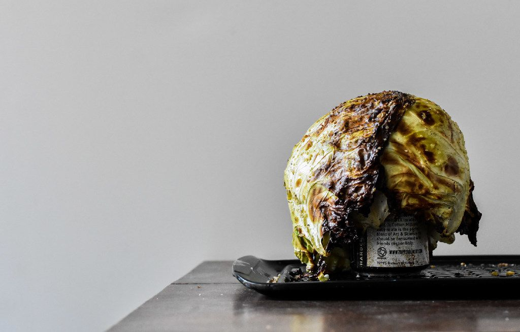 Beer Can Cabbage after grilling
